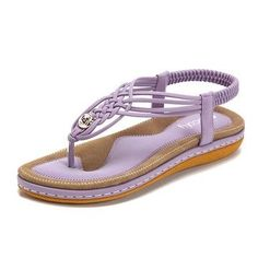 Handmade Knitting Clip Toe Elastic Flat Sandals is comfortable to wear. Shop on NewChic to see other cheap women sandals on sale Mobile. Beach Sandals, Flat Sandals, Gladiator Sandals, Leather Sandals, Flats, Snakeskin Boots, Summer Sandals, Peep Toe, Women's Shoes