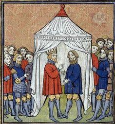 Brit. Lib. Royal 20 C VII - Chroniques de France ou de St Denis folio 135v 1380 - 1400