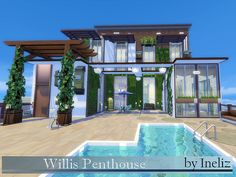 The Willis Penthouse is a perfect place for the ambitious artists who thrive to get inspired somewhere among the clouds. Found in TSR Category 'Sims 4 Residential Lots'