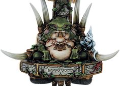 Lizardmen Slann Mage Priest is an army center piece.