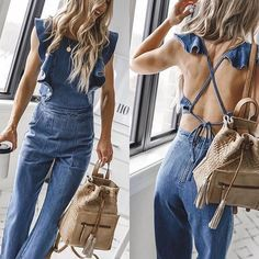 MOUTEN Women Flare Bell Bottoms Party Zip-Up Overalls Fashion Jumpsuits Romper