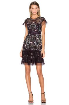 a24f3616a215 #REVOLVE Needle And Thread Dresses, Sequin Top, Embellished Dress, Fit  Flare Dress