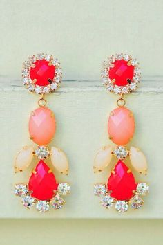#jewelry #coral #statement #earrings