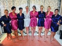 Navy and Fuschia Wedding Party Robes
