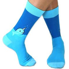 He's just popping up to say hello! Get the Nifty Narwhal Socks only at TeeTurtle!