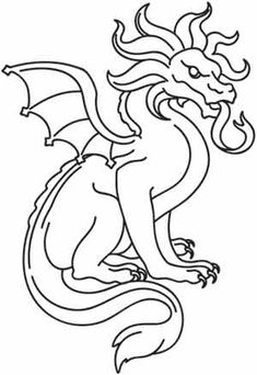dragons embroider by hand | Dracoil | Urban Threads: Unique and Awesome Embroidery Designs