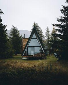 modern, cedar & black