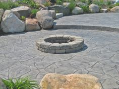 Image detail for -Stamped concrete Lawn And Landscape, House Landscape, Outdoor Life, Outdoor Gardens, Outdoor Fun, Outdoor Ideas, Outdoor Spaces, Outdoor Living, Concrete Patio Designs
