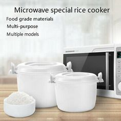 Made for Microwave cooking. Lock design to keep heat in the pot. Microwave Rice Cooker, Steamer Recipes, Cooking Utensils, Food Grade, Insulation, Jun, Friday, Watch, Tableware