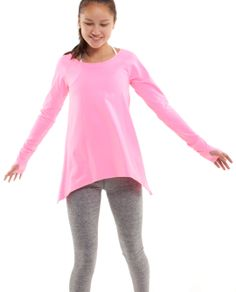Go from school to practice in the super soft Rulu™ fabric Practice Ready Long Sleeve Tee | ivivva
