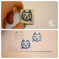 stamp carving tutorial by bij gebrek aan beter, via Flickr