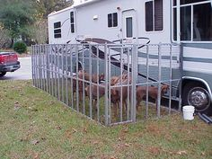 metal fencing rv dog run - Google Search