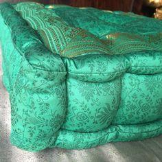 Floor cushion, Red Tufted meditation pillow, floor sitting cushion ...