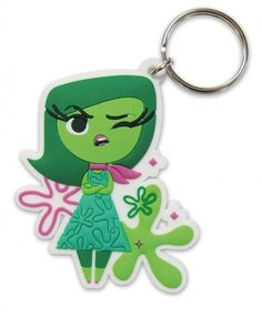 INSIDE OUT - RUBBER KEYCHAIN / KEY RING (DISGUST)