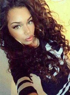 Hajar Savane - Gorgeous Natural Curly Hair - Brunette
