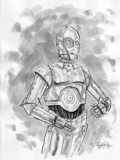 C3PO by Ben Templesmith, via Flickr
