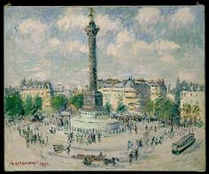 Gustave Loiseau (French, 1865–1935). La Place de la Bastille, 1922. The Metropolitan Museum of Art, New York. Robert Lehman Collection, 1975 (1975.1.190) #paris