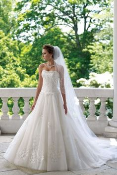 Princess ball gown with sweetheart neckline