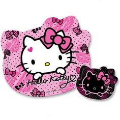 Pink-Sanrio-Hello-Kitty-Shapped-Foam-Mousepad-Mouse-Mat-with-Coaster-Ribbon