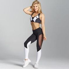 Mesh Patchwork Leggings Women Polyester Black High Waist Ankle-Length Fitness Trousers Casual Women Leggings Black S Mesh Leggings, Sports Leggings, Workout Leggings, Black Leggings, Black Pants, Women Sleeve, Female Poses, Club Outfits, Long Sleeve Crop Top
