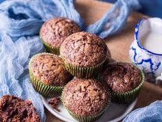 Chocolate banana muffins with sugar topping - Stock Photo , Chocolate Banana Muffins, Healthy Sweets, No Bake Desserts, Bakery, Sugar, Treats, Snacks, Homemade, Breakfast