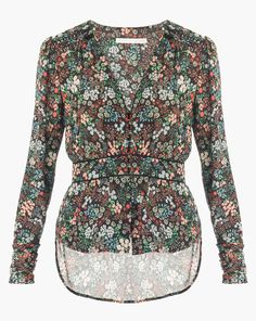 Ripley Ruched Boho Blouse by Veronica Beard