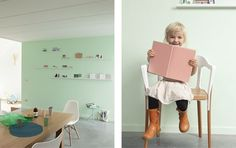 Hoe een modern interieur toch kindvriendelijk kan zijn met deze zachte kleuren.