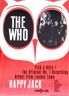 """""""Happy Jack"""" by The Who from Billboard Magazine March 18, 1967."""