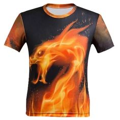 New T shirt Men Animal print Fierce wolves Short Sleeve Costume Wolf Fitness tshirt Galaxy homme Camisetas Just look, that`s outstanding! 3d T Shirts, Cool T Shirts, Printed Shirts, T Shirt Vest, Shirt Men, Dragon Print, Summer Fashion Outfits, 3d Fashion, High Fashion
