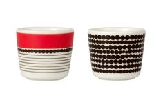 Siirtolapuutarha egg cup set by Marimekko
