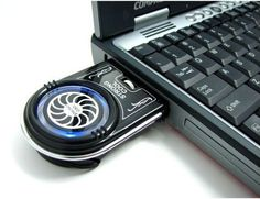 Vacuum USB Case Cooler Cooling Fan for Notebook / Laptop. Geek Gadgets, Gadgets And Gizmos, Cool Gadgets, Cool Technology, Technology Gadgets, Futuristic Technology, Ipod, Blue Led Lights, Tech Toys