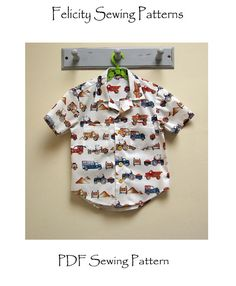 Boy's shirt sewing pattern The Thomas Shirt by FelicityPatterns
