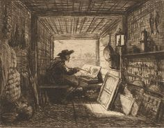 Charles François Daubigny. Le bateau-atelier, 1827–78. Rijksmuseum, Amsterdam.