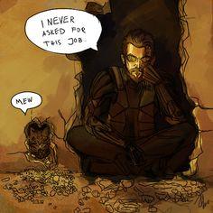 Adam Jensen has a Kitty now. Ex Humor, Deus Ex Human, Deus Ex Mankind Divided, Sea Of Thieves, Deus Ex Machina, Chronicles Of Narnia, Metroid, Mega Man, Bioshock