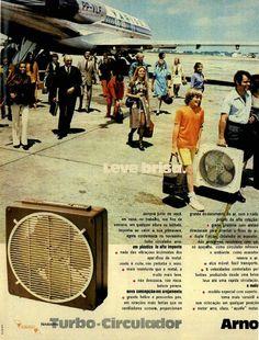 Circulador Arno #Brasil #anos70 #retro #anunciosAntigos #vintageAds