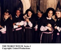 The Worst Witch and friends from the TV series.