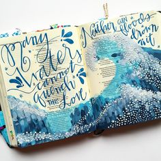 Bible Journaling by Bumble & Bristle @bumbleandbristle | Song of Solomon 8:6-7