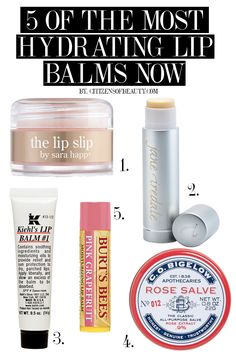 the top 5 hydrating lip balms right now
