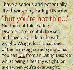 Eating disorders DON'T discriminate!!!