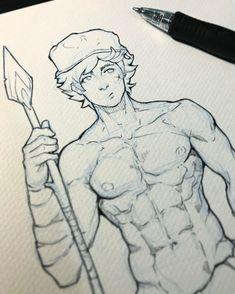 "332 Me gusta, 6 comentarios - Joe Somesauce (@joesomesauce) en Instagram: ""Donnel WIP #muscle #anatomy #practice #fireemblem #donnel #art #pencil #ink #villager #fit…"""
