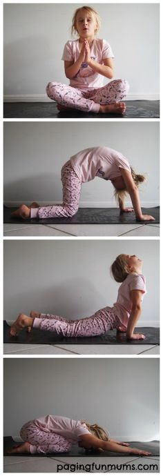Kids Bedtime Yoga Routine. This helped my kids to start sleeping through the night! Try it!