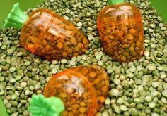 Peas and Carrots Simple Sensory Bin