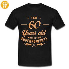 Geburtstag 60 Superpower RAHMENLOS® Männer T-Shirt von Spreadshirt®, XXL, Schwarz - Shirts zum 60 geburtstag (*Partner-Link)