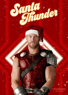 Santa Thunder: Thor sending happy wishes for the holidays and Christmas