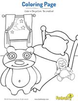 Bedtime Coloring Page