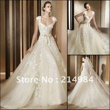 vestidos de novia costa rica 2013 Fashion Design Square Neckline Pincess Ball Gown Royal Wedding Dress