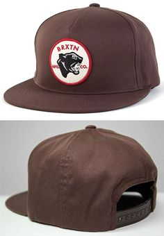 Seeker Snap Back Hat by Brixton- BROWN Brixton Clothing db35536e201f