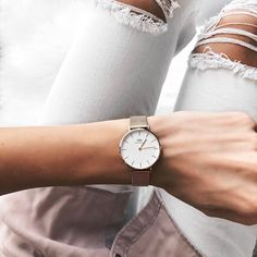 The new Classic Petite watch from @danielwellinton won my heart over with the rose gold mesh band  Use my code 'TAYMBROWN15' to get 15% off any DW watch!  < Shop by screenshot or liking with the new @liketoknow.it app! http://liketk.it/2qKpS #liketkit > #dwforeveryone #ad