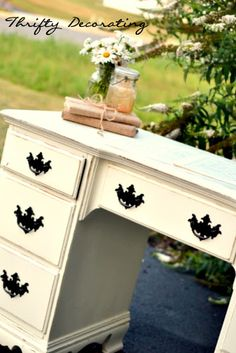 Make over for my bedroom furniture - I was picturing these exact colors!!