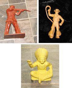Vintage+Marx+Play+Set+Figure+Lot+Western+Cowboy+Indian+Frontierman #playsets #vintagetoys #vintageplaysets #toys